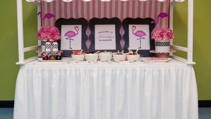 Flamingo Themed Birthday Party