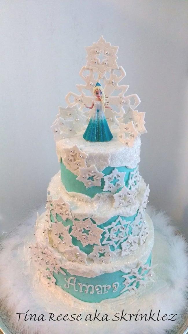 Snowflake Frozen Cake