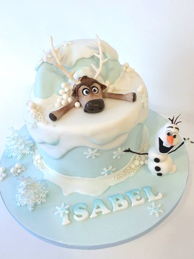 Magnificent 15 Amazing Frozen Inspired Cakes Pretty My Party Party Ideas Funny Birthday Cards Online Alyptdamsfinfo