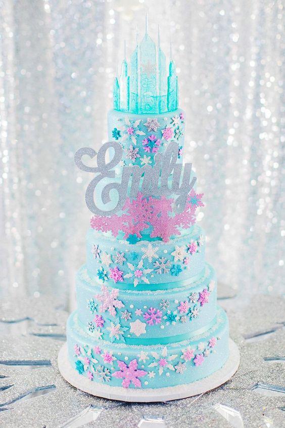 Frozen Inspired Birthday Cake
