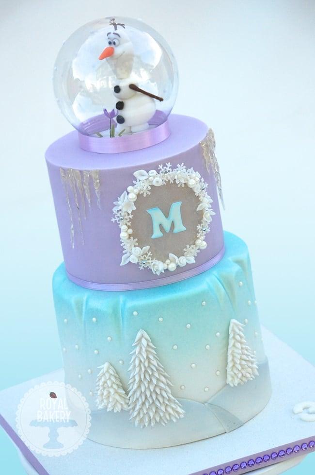 Frozen Olaf Snow Globe Cake