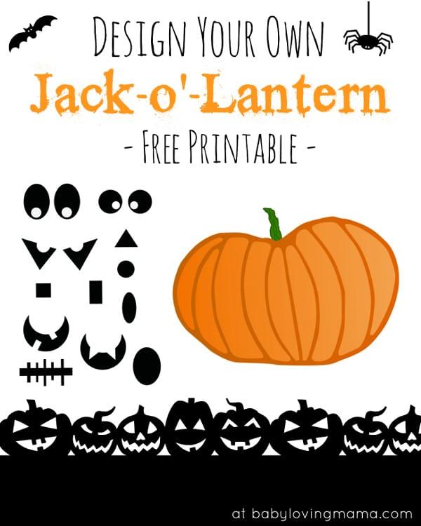 Design Your Own Jack-O-Lantern Printable