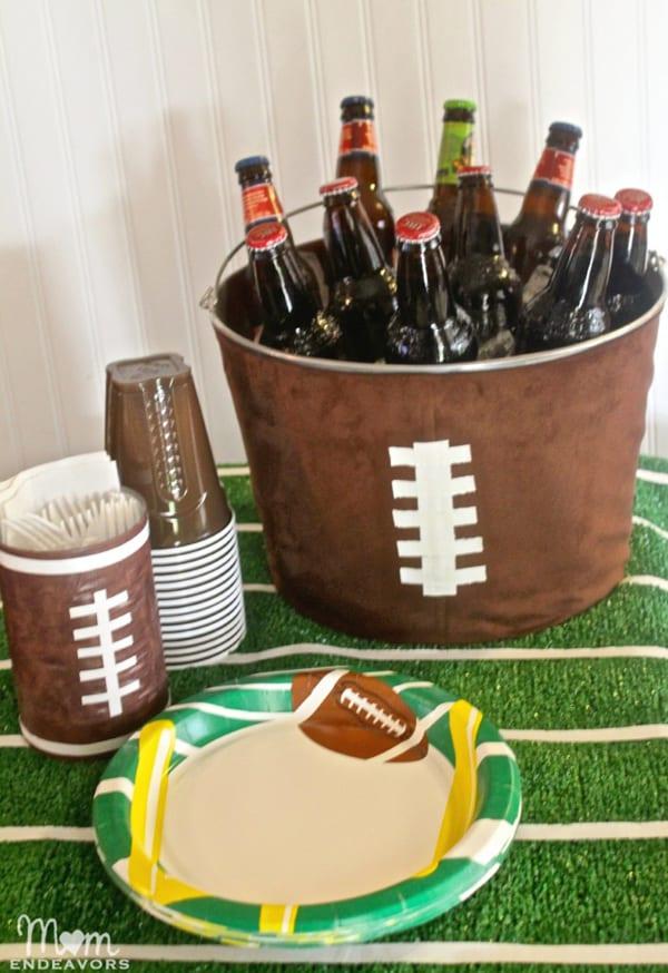 DIY Football Party Drink Tub