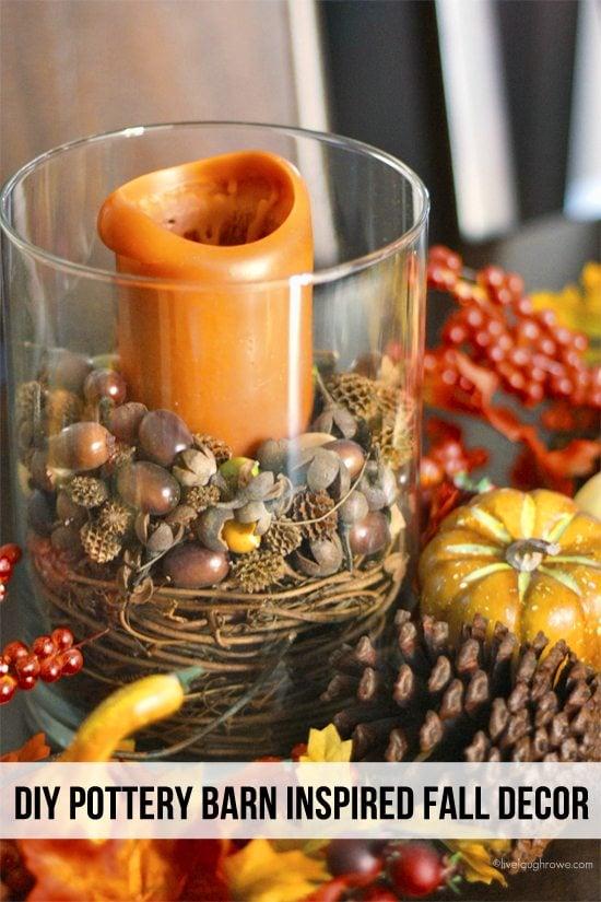 DIY Pottery Barn Inspired Fall Centerpiece