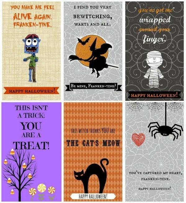 Free Halloween Frankenstein Printable Cards