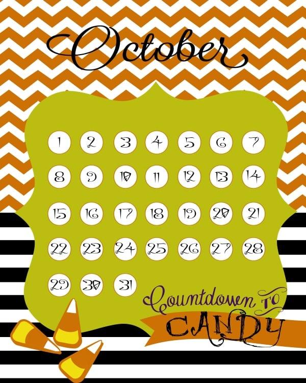 Free Halloween Countdown Printable