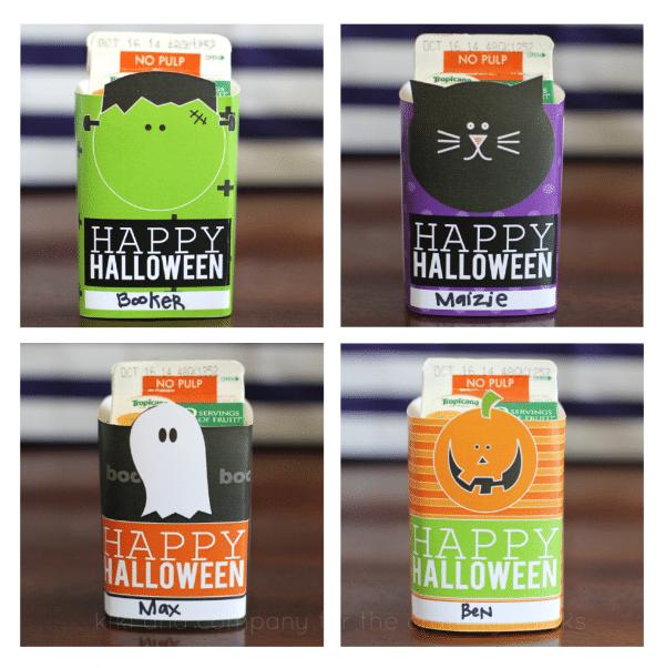 Free Halloween Juice Box Covers