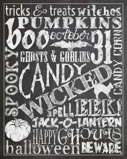 Free Halloween Subway Art Printable - Pretty My Party