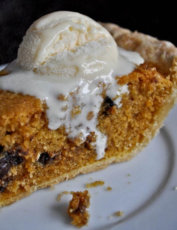 Pumpkin Chocolate Chip Cookie Pie