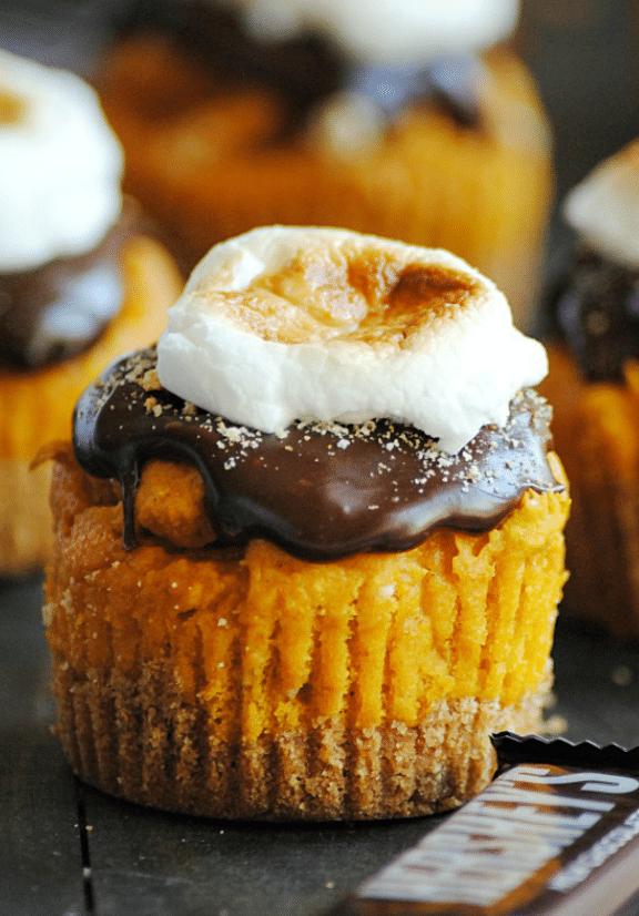 Pumpkin Smores Cupcake Recipe