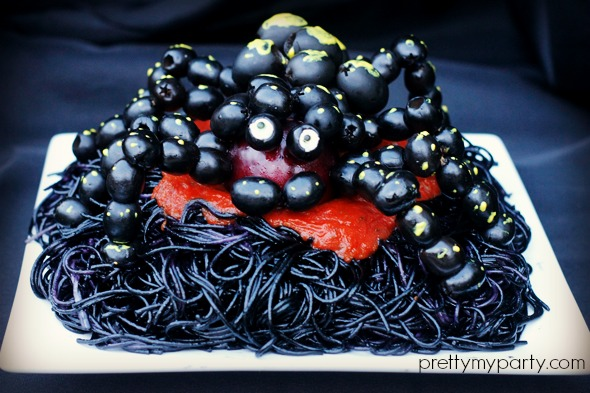 Halloween Spooky Spaghetti Recipe Pretty My Party
