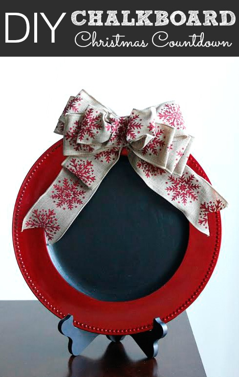 Diy Chalkboard Christmas Countdown Pretty My Party