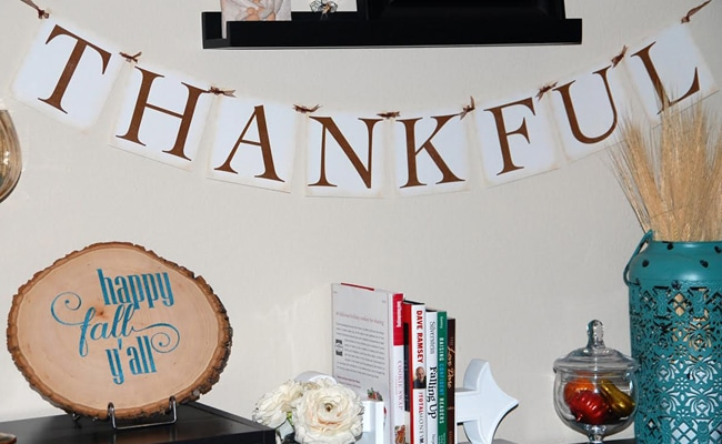 Free Thankful Banner Printable