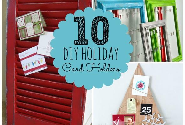 10 DIY Holiday Photo Card Holders