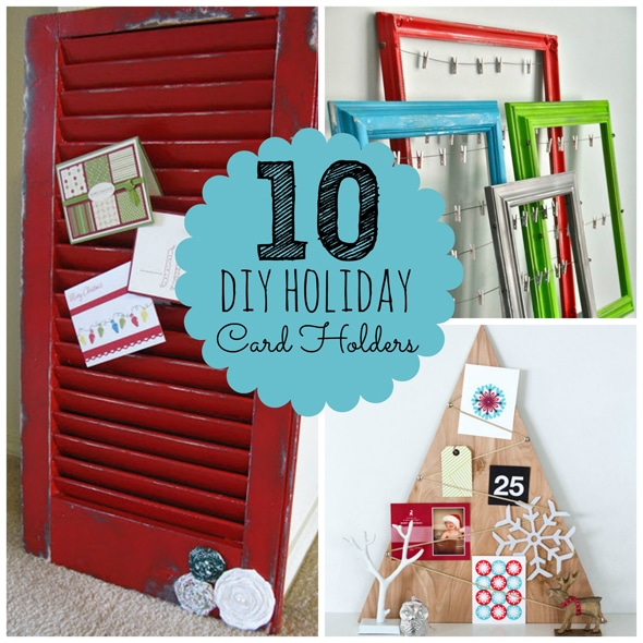 10 Diy Holiday Photo Card Holders