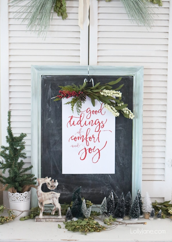 Free Good Tidings Holiday Art Print