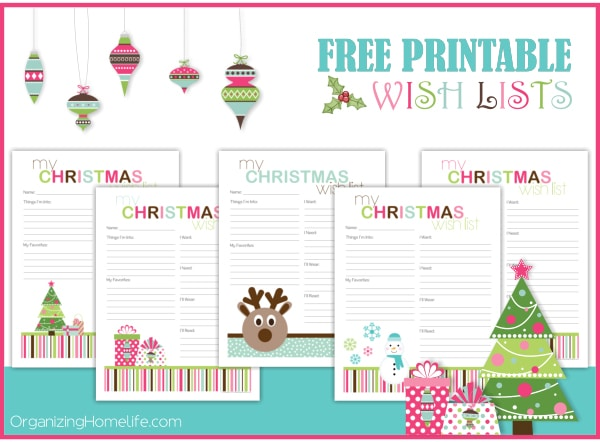 Free Christmas Printable Wish Lists