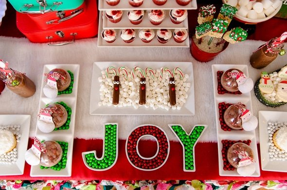 Christmas Party Hot Chocolate Favors