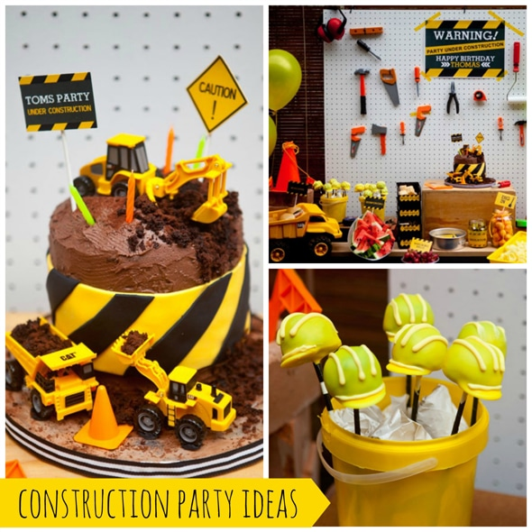 Phenomenal Construction Themed Birthday Party Funny Birthday Cards Online Elaedamsfinfo