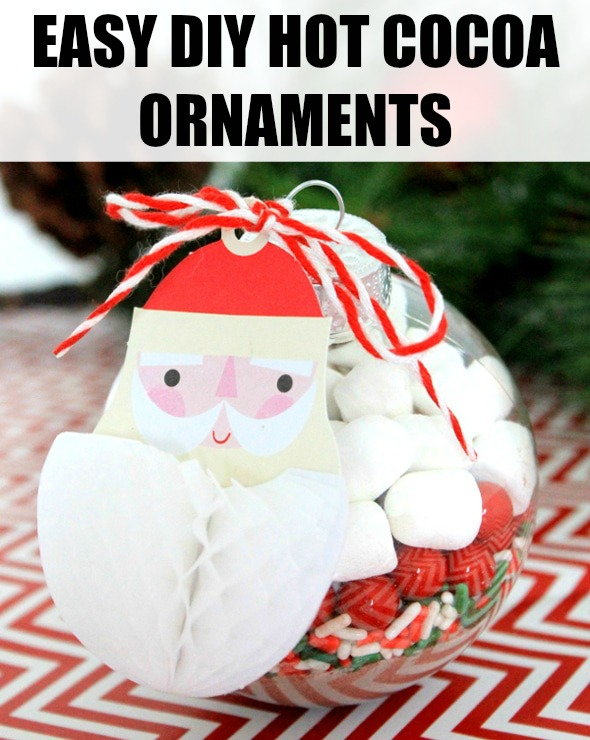 Easy DIY Hot Chocolate Ornaments on Pretty My Party