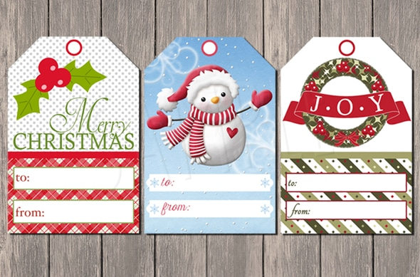 Free Printable Christmas Tags on Pretty My Party