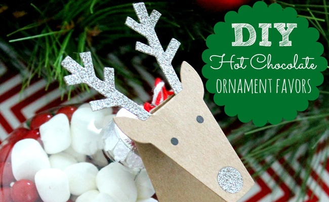 DIY Hot Chocolate Ornament Party Favors