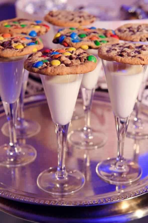 Milk and cookies - kids toast for New Year's Eve