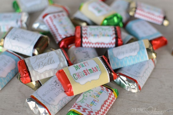 Free Christmas Printable Mini Candy Wrappers