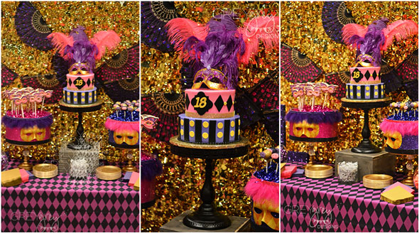 The cake was a stunner, done by Mad Lily Cakery . The mask and ...