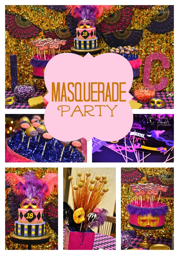 Masquerade birthday party for 18th birthday decoration ideas for girls