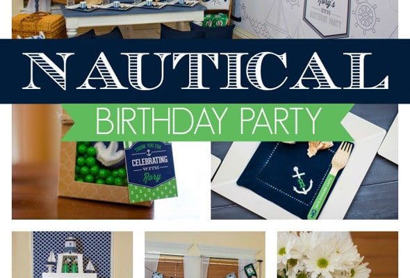 Nautical Lighthouse Themed Birthday Party
