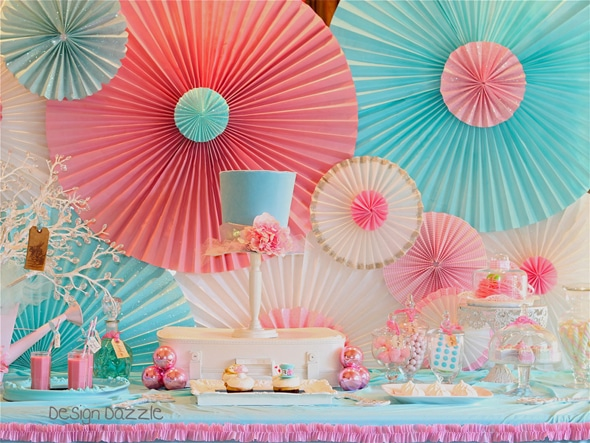 6 awesome dessert table backdrop ideas pretty my party for Background decoration for birthday party