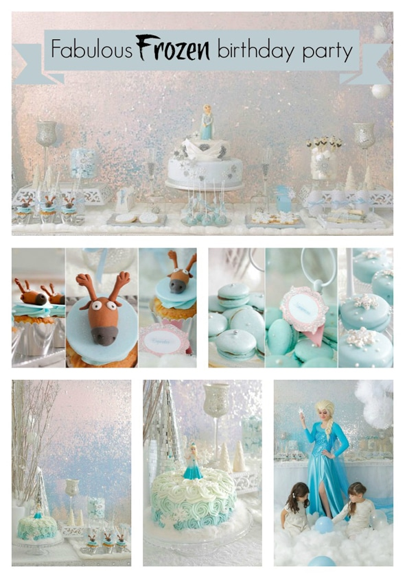 Festive Disney Frozen Birthday Party