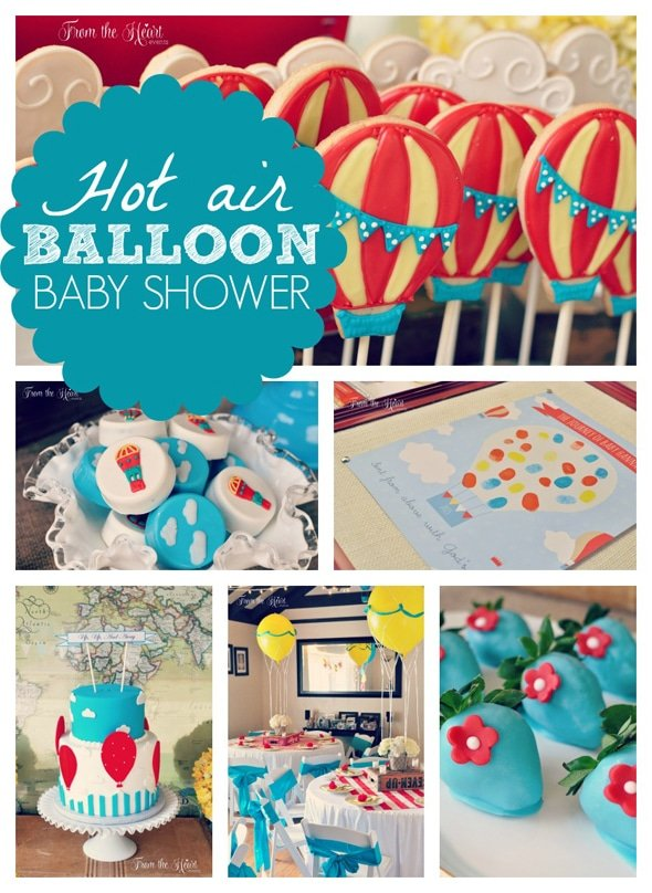 Hot air balloon baby shower pretty my party