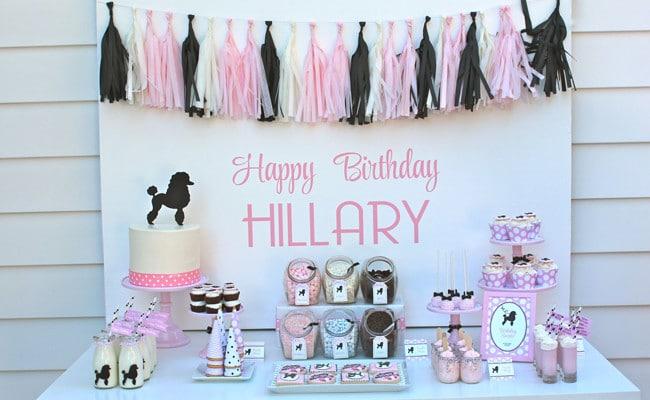 Pink Poodle Skirt Birthday Bash