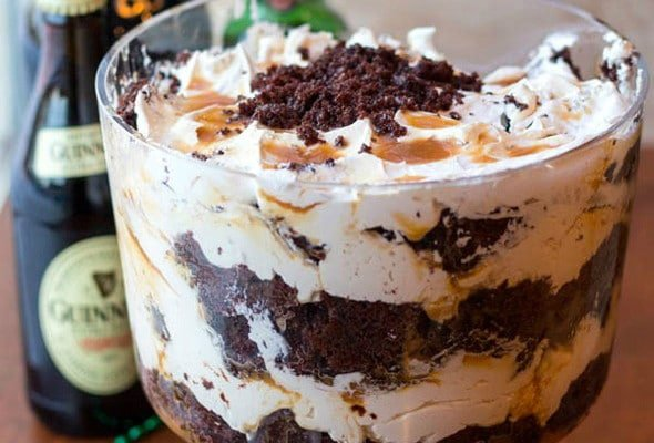 Boozy Triple Irish Trifle Recipe
