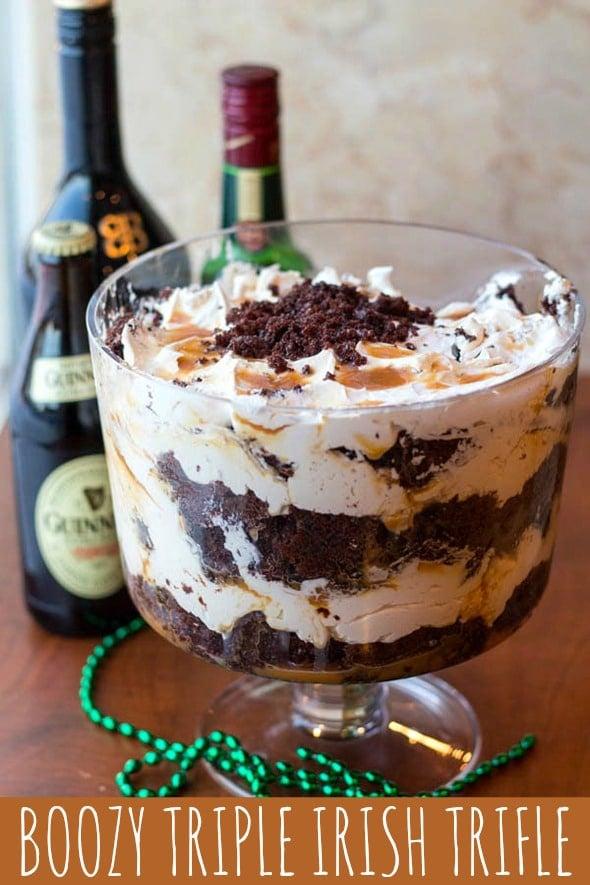 Boozy Triple Irish Trifle Recipe Pretty My Party Party