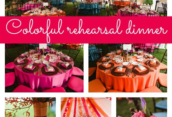 Colorful Rehearsal Dinner