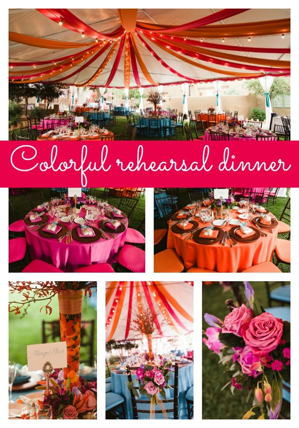 Colorful Rehearsal Dinner Pretty My Party
