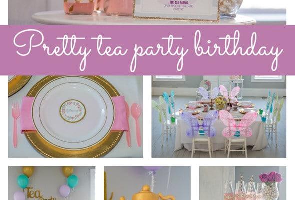 Pretty Tea Party Themed Birthday