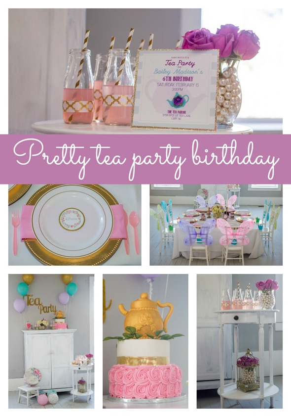 Pretty Tea Party Themed Birthday Pretty My Party Party Ideas