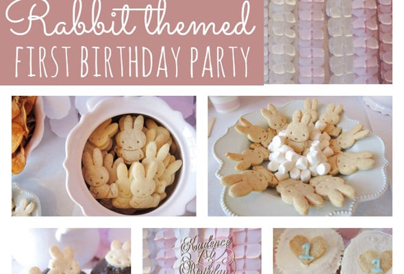 Rabbit Themed First Birthday Party
