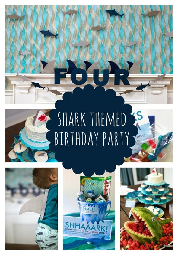 Sweet Shark Birthday Party – Shark Invitations Birthday Party