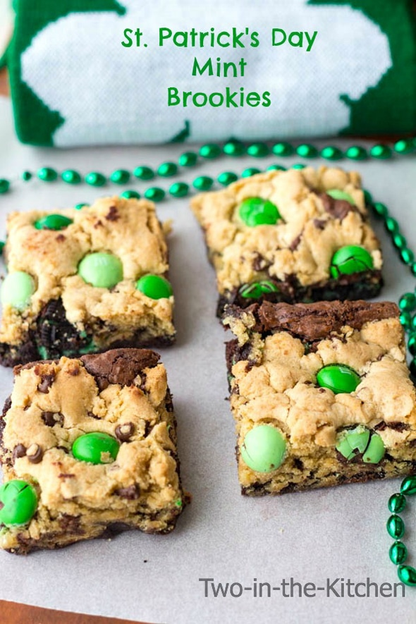 St Patrick S Day Mint Brookies Pretty My Party