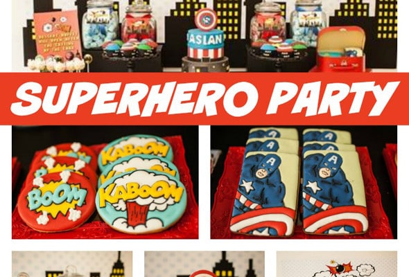 Classic Superhero Birthday Party