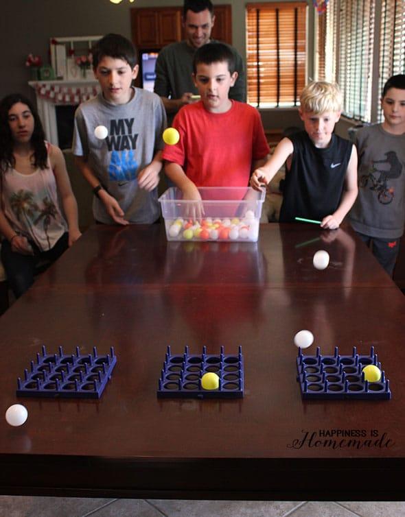 Ping-Pong-Tic-Tac-Toe