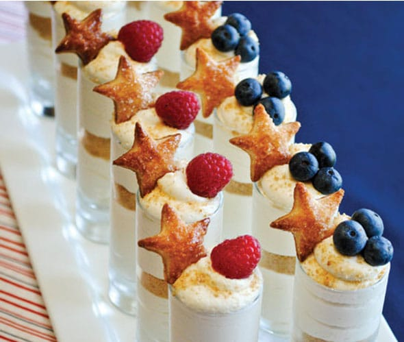 Stars and Stripes Cheesecake Dessert Cups
