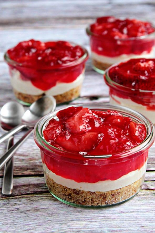 Strawberry Pretzel Dessert - Mini Dessert Cups