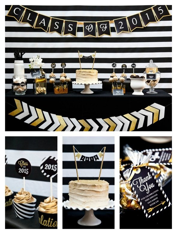 Black And Gold Graduation Party