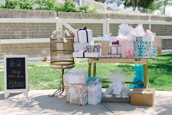 Vintage chic bridal shower pretty my party bridal shower gift table negle Gallery